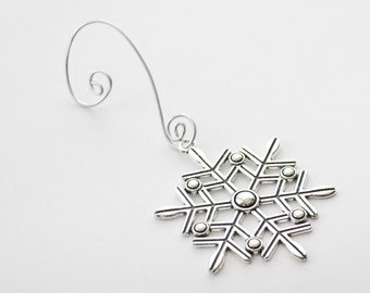 Snowflake Ornament, Christmas Ornament, Winter Ornament, Silver Snowflake Ornament, Christmas Gift, Christmas Decorations