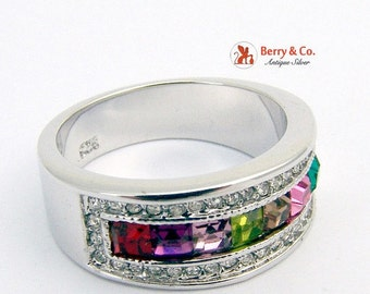 SaLe! sALe! Colorful Ring Sterling Silver