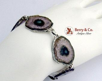SaLe! sALe! Tourmaline Bracelet Sterling Silver Hand Made