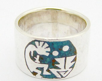 SaLe! sALe! Stylized Figural band Ring Sterling Silver