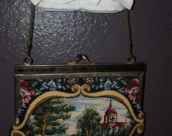 Ladies Vintage Tapestry Purse