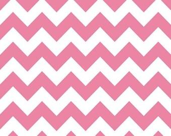 Riley Blake Flannel Fabric Pink Medium Chevron F320-- 1/2 yard
