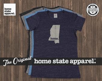Mississippi Home. T-shirt- Womens Cut