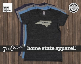 North Carolina Home. T-shirt- Womens Cut- Tri Blend