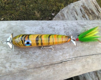 "Fishing lure. 12"" Custom Marbled Musky Plug"