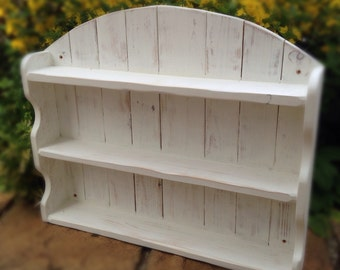 Cream Arched Shelf Unit Recycled Shabby Chic