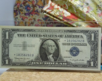 United States 1957-B Star * Silver Certificate Dollar Bill