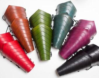 Elven Leather Bracers Renaissance Fair Medieval Larp Pair