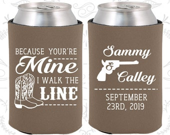 Because You are mine, I walked the line, Personalized Wedding, Country Wedding Favors, Western Wedding Favors, Cowboy Boots (474)