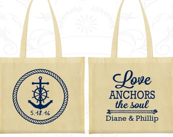 Love Anchor the Soul, Personalized Tote Bags, Anchor Bags, Nautical Bags, Wedding Bags (05)