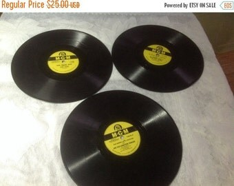 50% Off Summer Sale Three Vintage 78 / 33 RPM MGM Records