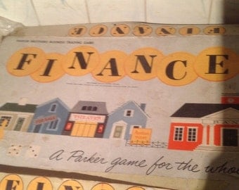 """60% Off Sale 1958 """"Finance"""" Game by Parker Brothers"""