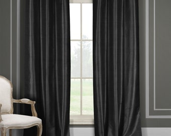 Set of 2: Blackout Energy-Saving Curtain Panels in 7 Colors