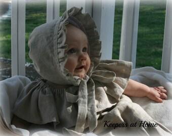 Linen Bonnet/Easter Bonnet/ Baby bonnets