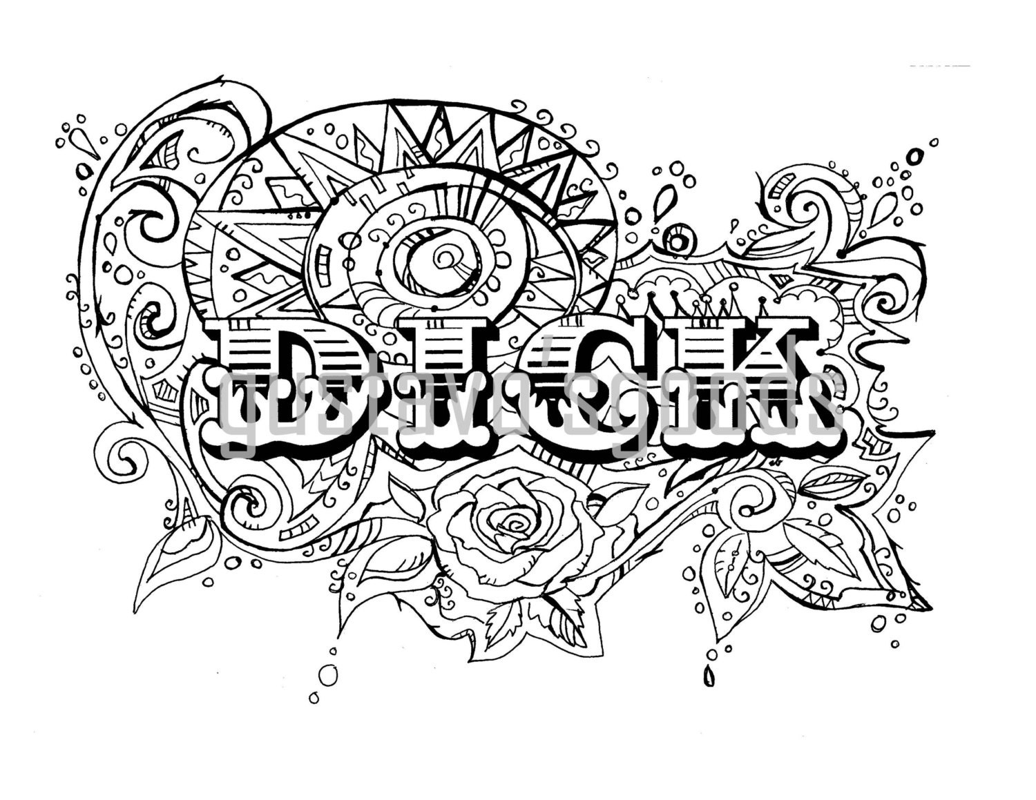 Swear Word Coloring Book Pages Dck Curse Word Coloring