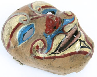Unusual Vintage Clown Payaso Fiberglass Mask Circus Art