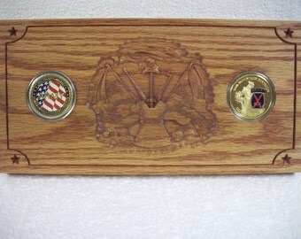 US ARMY Challenge Coin Plaque, #56 Challenge Coins Included!