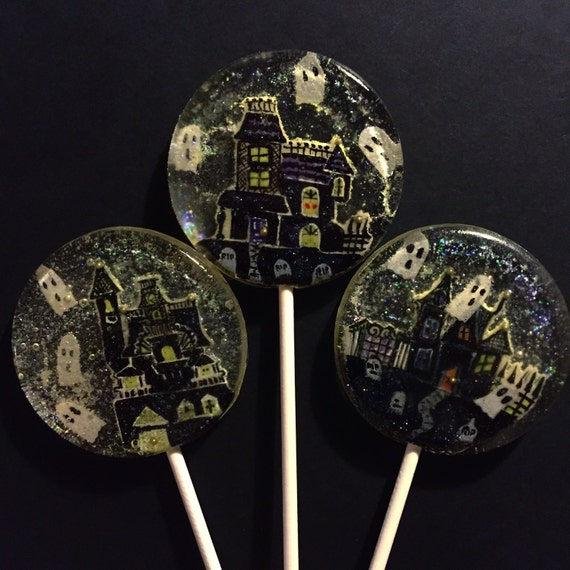 3 Candy Corn Flavored Haunted House Halloween Party Wedding Celebration Favors Lollipops