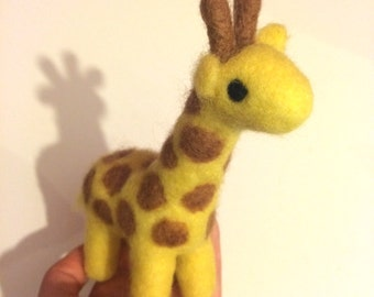 Needle felted giraffe handmade