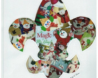 Mr Bingle Fleur De Lis Collage Handmade