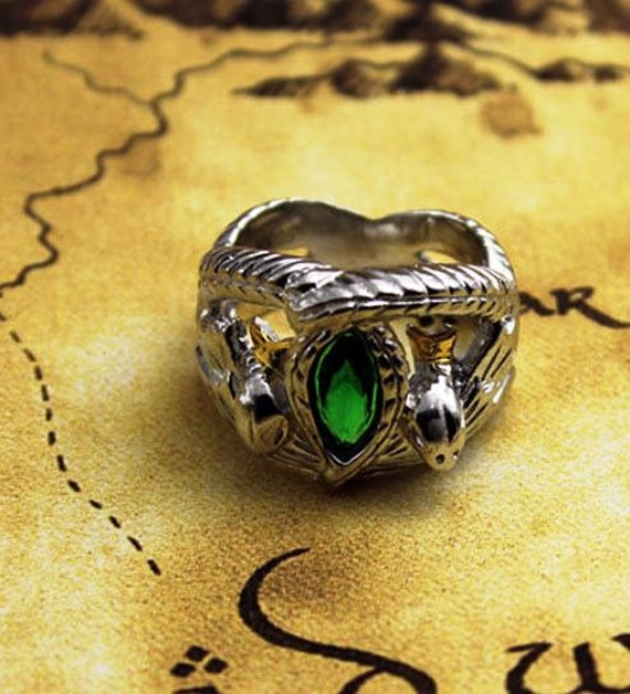 Ring Of Barahir Platinum Plated Aragorn Lotr By