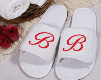 Personalized Embroidered Initial Slippers