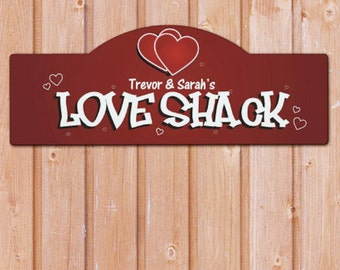 Personalized Love Shack Wall Sign