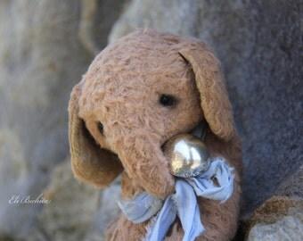 Artist teddy friend little elephant in vintage style