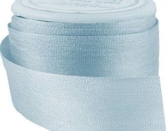 6 Yds (5 m) Embroidery Silk Ribbon 100% Silk 13mm - It. Teal - By Threadart