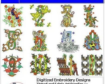 Embroidery Design CD - 12 Days of Christmas - 12 Designs - 9 Formats - Threadart