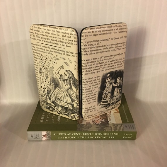 Alice in Wonderland Book Page Wallet - Attack of the cards