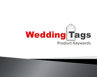 Wedding Tags Product Keywords SEO View Booster