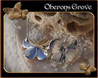 6 Leaf earstuds silver