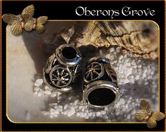 10 cone bead caps 2, 8x10mm silver