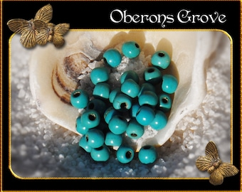 50 turquoise Magnesite Beads 3mm