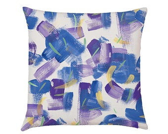 Painterly Cushion Cover Cobalt