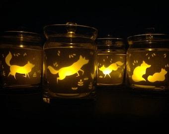 Tealight holder Fox