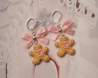 earrings kawaii gingerbread