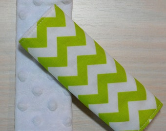 Car Seat Strap Covers - Lime Green