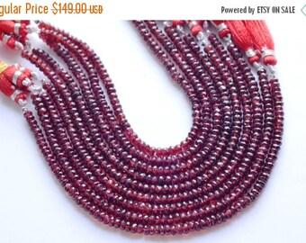 On Sale 5 Strands AAA 8 Inch 5mm Vivid Pyrope Red Garnet Faceted Rondelle Beads Strand-Garnet Faceted Rondelles