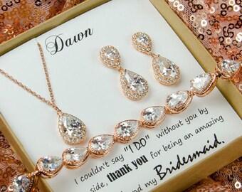 Crystal Bridal Earrings, Bridal Jewelry SET, Wedding Jewelry Set, vintage bridal jewelry, Bridesmaid Jewelry Set, Bridal Set