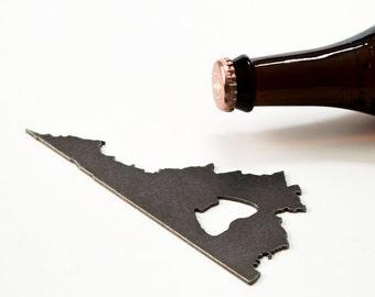 July 4th  Virginia Steel Bottle Opener - Travel Souvenir, Groomsmen Gift, Wedding Favor, Christmas Gift