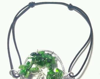 Diopside bracelet