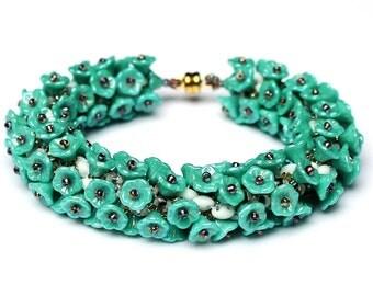 "PDF Anleitung Armband ""Lavendel"" / Beading Tutorial Bracelete"