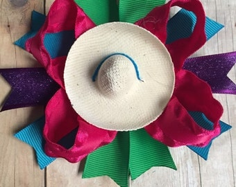 Fiesta Hair Clips, Mexico, Cinco de Mayo, Party Favors, Birthday, Fiesta Theme, Pigtails