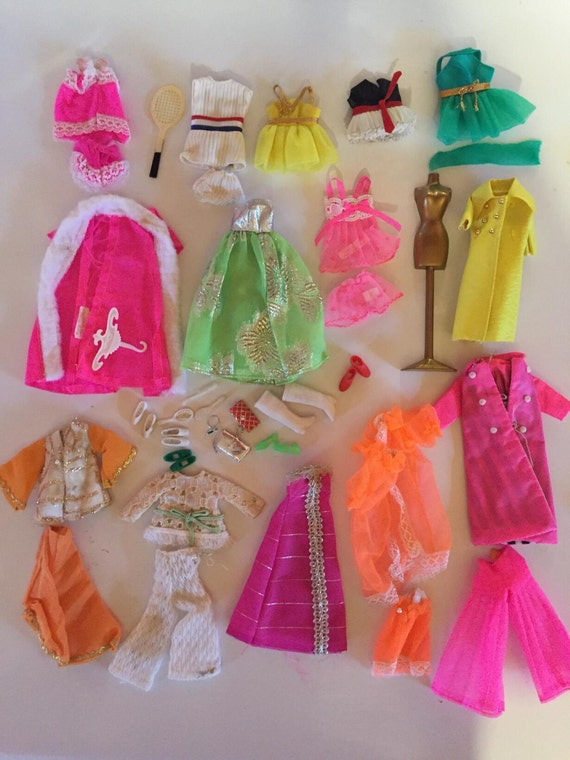 1970s Dawn Topper Fashion Dolls Accessories And Clothes Huge