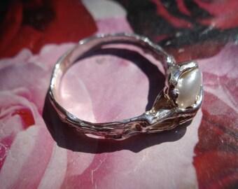 Baroque Pearl Ring - Keshi Pearl Silver ring K36