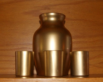 Wedding Table Top  / Metallic Gold Wedding Centerpiece / Metallic Gold  Votive Candle Holder / Jardin Vase / Candle Holder / 4