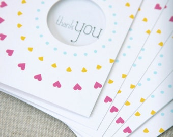 Thank You Note Cards // Set of 6 // modern stationery