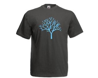 T-shirt Men Short Sleeve Tree in Autumn